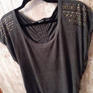 Maurices, studded shoulder, shirt, blouse, XXL